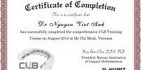 CLB certificate